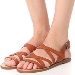 Madewell The Boardwalk Multi strap Sandals Size 9